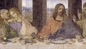 DaVinci Last Supper detail of MM and Yeshua